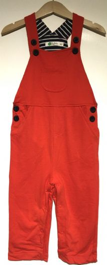 BABY BODEN ORANGE JERSEY DUNGAREES 0-3m to 18-24m